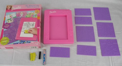 Barbie Fashion Plates Rubbing Barbie Fashion Plates Barbie