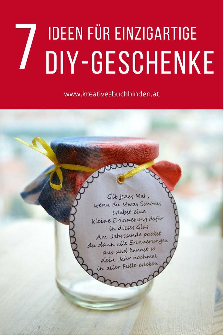 In diesem Blogartikel   findest du 7 Ideen für selbstgemachte DIY Geburstagsgeschenke,   Valentinstag, Ostern, Hochzeitsgeschenke oder einfach kleine   Mitbringsel.  Mit dabei sind das Wenn-Buch, das Kartenbuch, ein Glücksglas, Süßigkeitenverpackungen und ein selbstgemachter Notizblock.    #selbstgemachtegeschenke #kreativesschaffen #lastminutegeschenke #diy