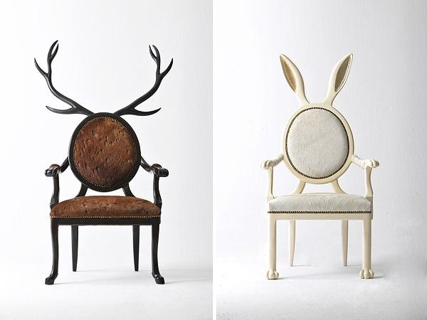 Zoomorphic Chairs from Merve KahramanDiy Ideas, Stunning Zoomorphic, Dining Room, Merve Kahraman, Interiors Design, Furniture, Rabbit Chairs, Hybrid Series, Hybrid Chairs