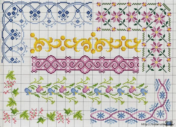 "Journal of Embroidery ""Borders and corner border - reasons for Cross Stitch"" .. Discussion on LiveInternet - Russian Service Online Diaries"