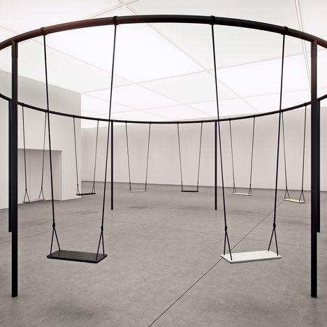 Philippe Malouin creates circular swing set with Caesarstone seats