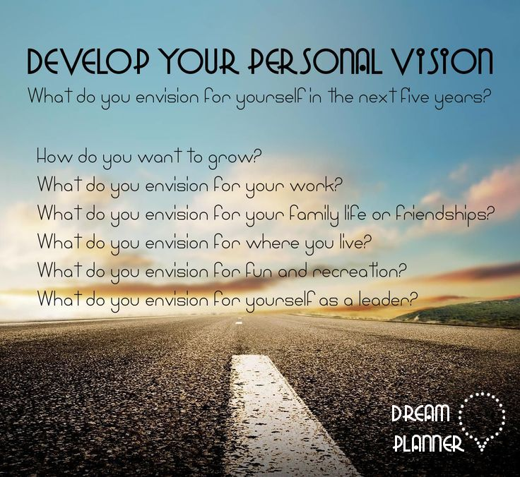 Develop your personal vision Dream Planner www.mydreamsplanner.com
