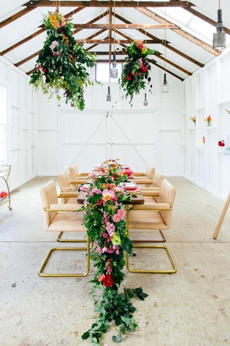 colourful floral tablescape