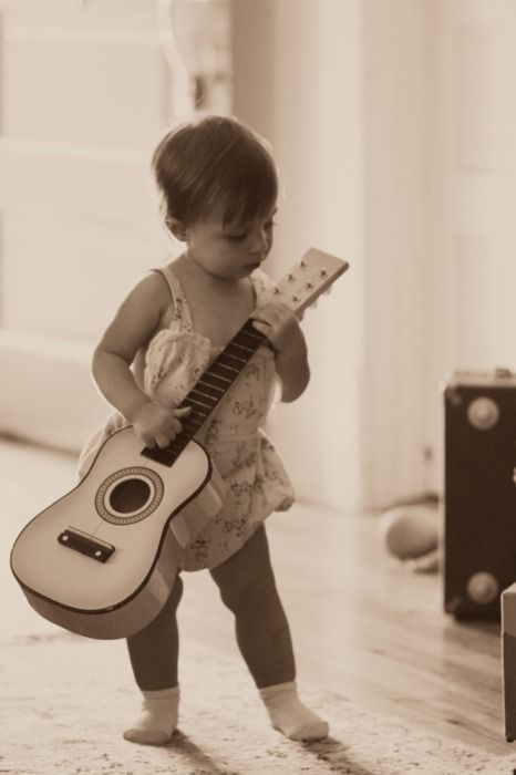 50 Rules for Dads of Daughters: Guitar And Girls, Dads And Guitar, Plays Guitar, My Daughters, Beauty Music, Adorable, Baby Girls, 50 Rules For Dads Of Daughters, Mommy Things