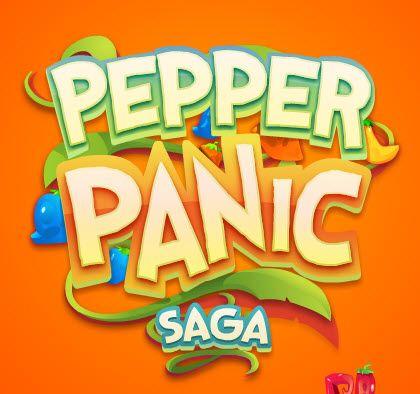 Pepper Panic Saga game logo design  #logo