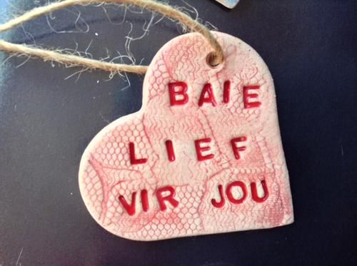 Other Finished Crafts - Handmade Ceramic Gift Tag - Baie Lief vir Jou ...
