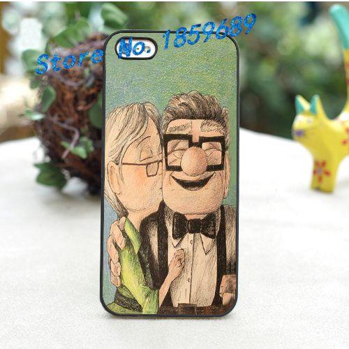 До Pixar Фильм Карл и Элли Cute Love Комедии мода обложка чехол для iphone 4 4S 5 5S 5C SE 6 6 плюс 6 s 6 s плюс 7 7 плюс