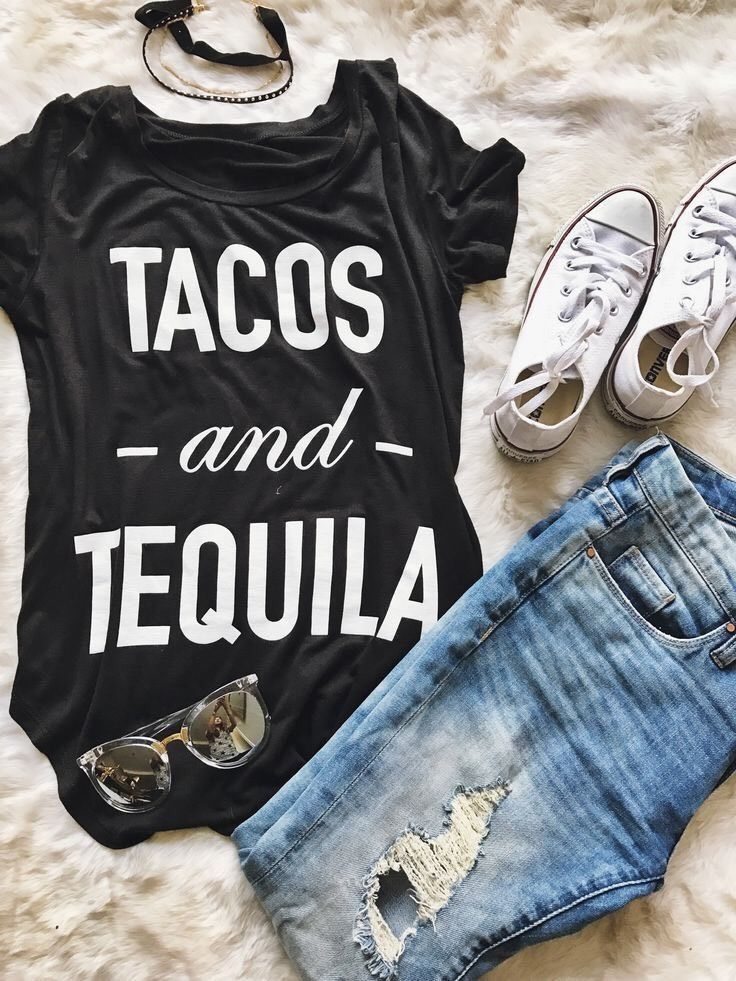 Women's Graphic Tee Shirt 'tacos And Tequila' | eBay