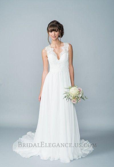 Deep Sweetheart Chiffon & Lace Gown 223605 | Wedding Gowns | Bridal Elegance