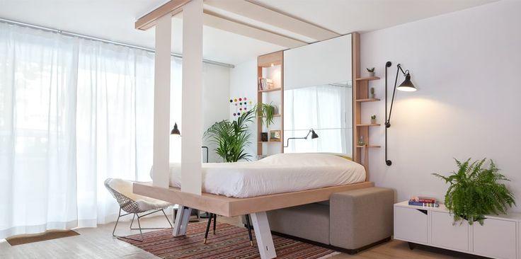 Bed up ®  modèle COCOON en position basse. www.bedup.fr