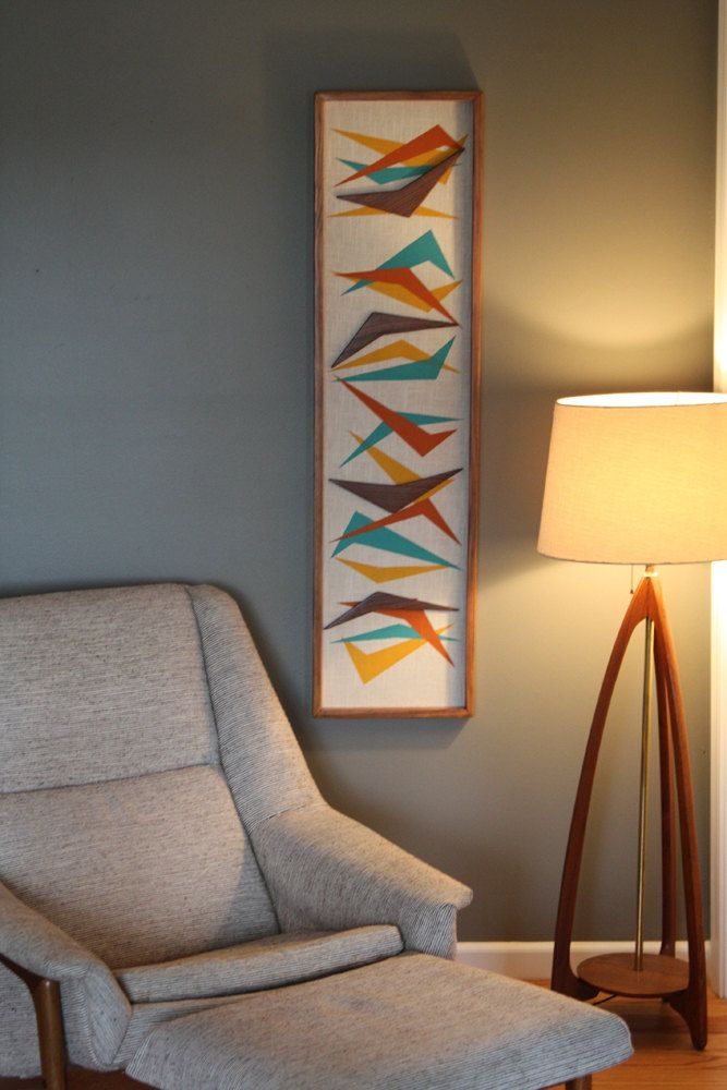 Mid Century Modern Wall Art Witco Inspired Madmen Abstract