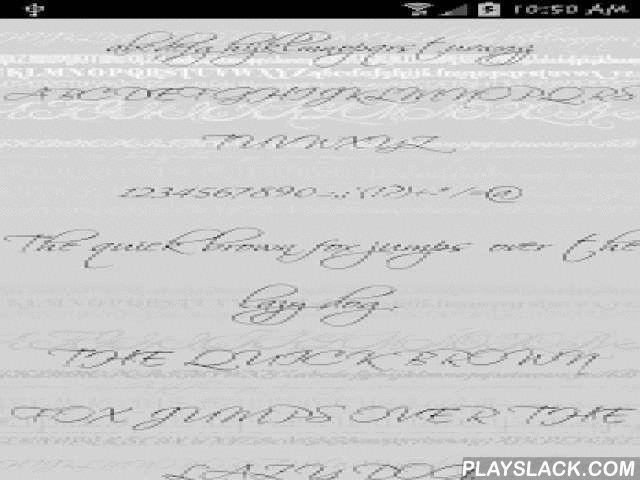 Fonts - Sexy For FlipFont Free  Android App - playslack.com ,  Sexy Gratis Lettertype Thema voor Samsung Galaxy FlipFont® en GO Launcher EX 10-Font gratis Sexy FFT Font Pack is compatibel met FlipFont® programma Samsung Galaxy & Monotype Imaging Inc's te zijn en zullen nieuwe gratis fonts op uw Galaxy telefoon die compatibel is met het FlipFont® programma op uw telefoon zijn geïnstalleerd. De FFT Font Pack is ook bedoeld ter ondersteuning van GO Launcher EX en kan de gebruiker de…