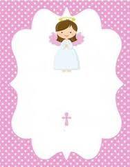 Resultado de imagen para tarjetas de recuerdo para primera comunion de nena