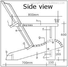 Resultado de imagen para plano de silla de madera