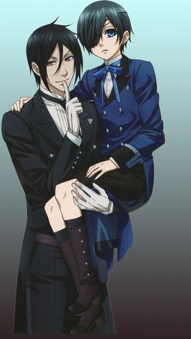 Anime Black Butler Alois Trancy Sebastian Michaelis Ciel Phantomhive Claude Faustus Mobile Wallpaper
