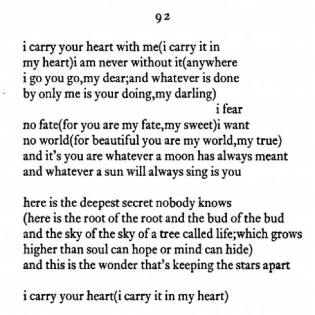 absolute favorite ee cummings poem