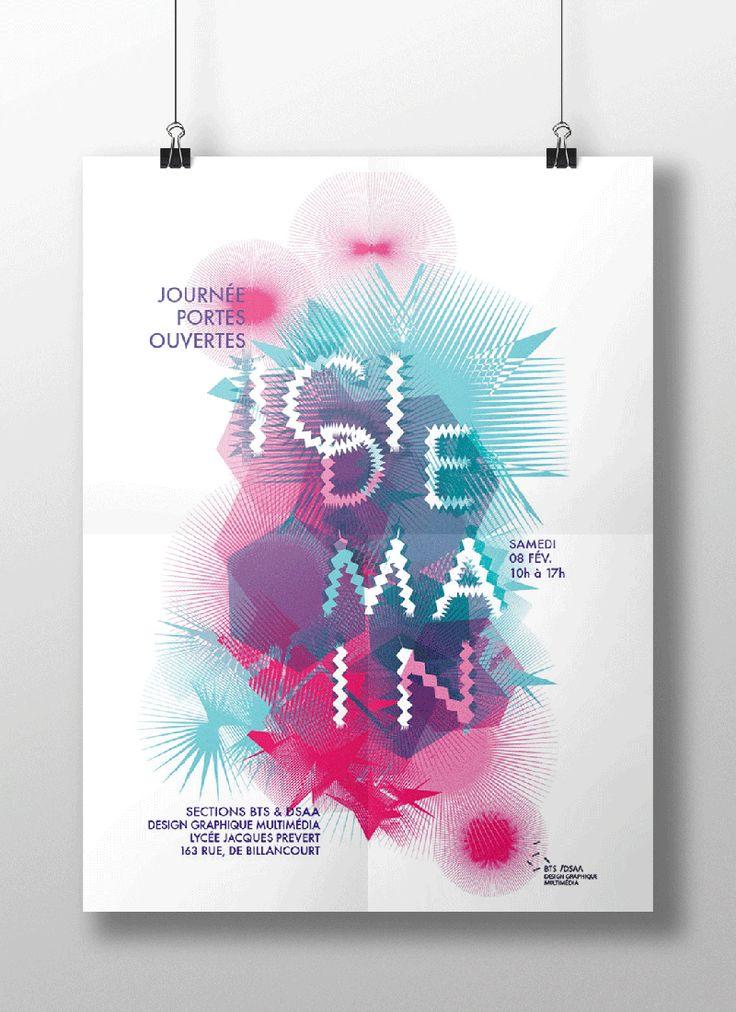 | Lisa Blumen, Anais Bazaline & Regis Alphonse | Création de l'identité visuelle des journées portes ouvertes au lycée Jacques Prévert (Boulogne Billancourt)