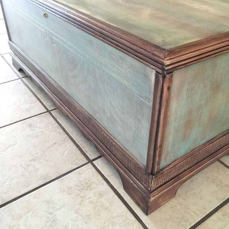 1940's Cedar Chest Makeover Adventure With Colors!  #SPiTchallenge