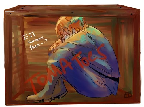 Hetalia (ヘタリア) - North Italy (イタリア) (T ^ T) - WHY DOES THIS GIVE ME FEELLSS HE MEETS GERMANY BECAUSE HE IS IN THE BOX