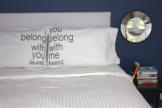 Love love love. :: Lumineers His and Hers Pillowcases by OSusannahs