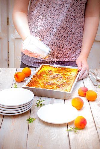 sucre galce sur recette clafoutis aux abricots romarin-recettes-preparées à l'avance avec Companion de Moulinex