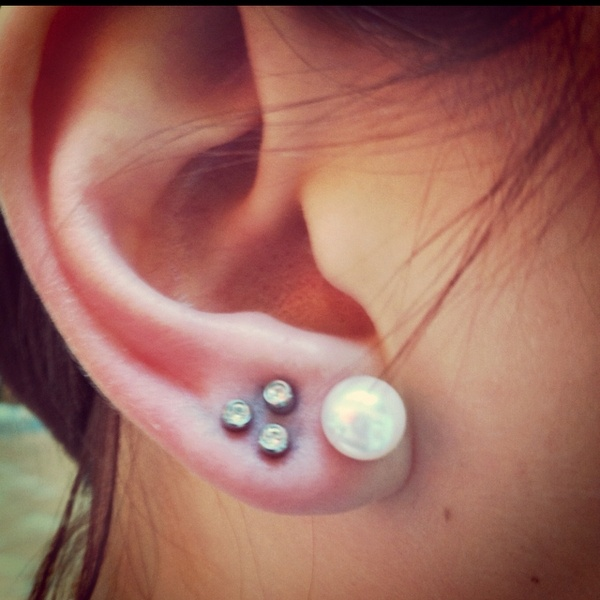 Triangle piercing