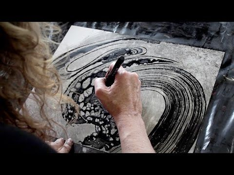 Part Two: Experiments in Mixed Media: Yupo, India Ink and Pitt Pens - YouTube