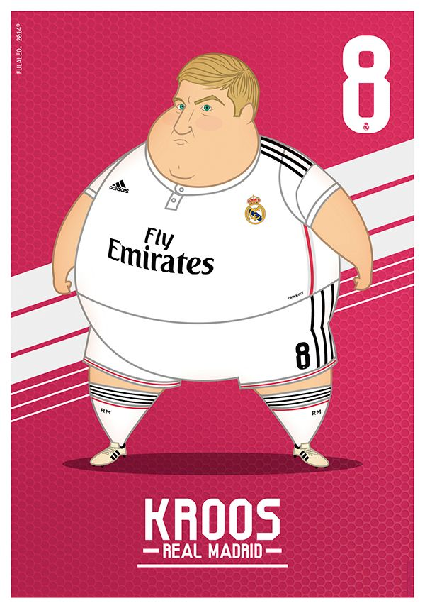 Fat Players: Real Madrid | The Five Gladiators by Fulvio Obregon, via Behance