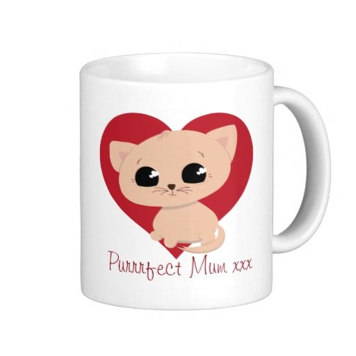 "Cute ""Purrrfect Mum"" Kitten Mug"