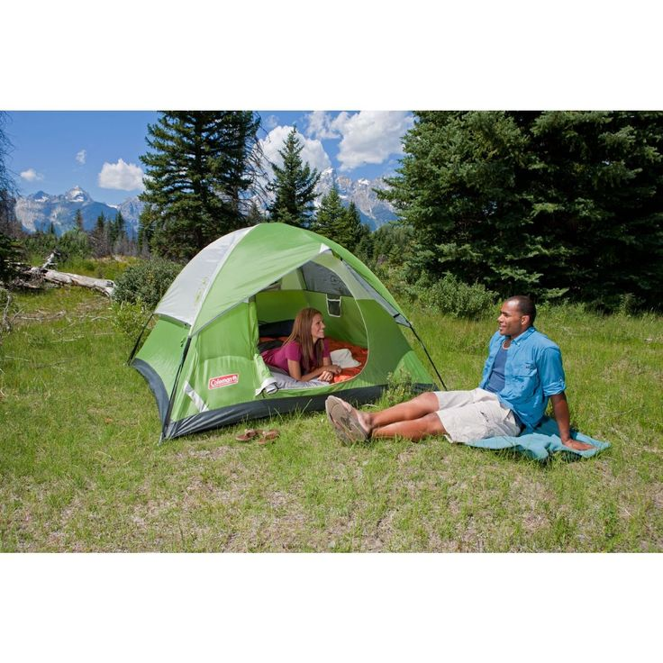 New Green Waterproof Coleman Sundome 4 Person Camping Hiking Tent