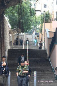 Steps, steps and more steps in Mid-Levels Hong Kong Island