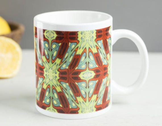 Multicolour mug tapestry mug medieval mug hobbit by DoodlePippin
