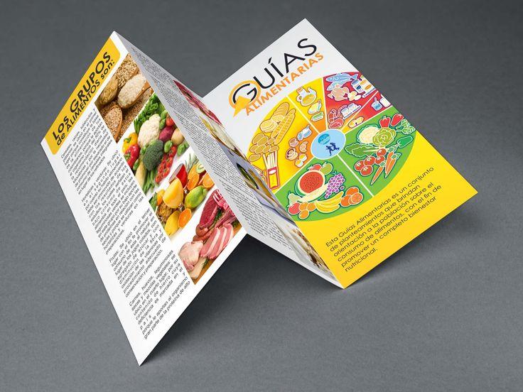 Brochure Guias Alimenticias para la Empresa Pixeles