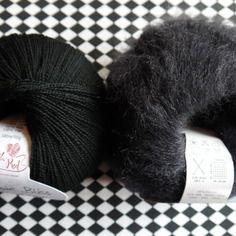 Kit de laines pour châle barbapapa noir