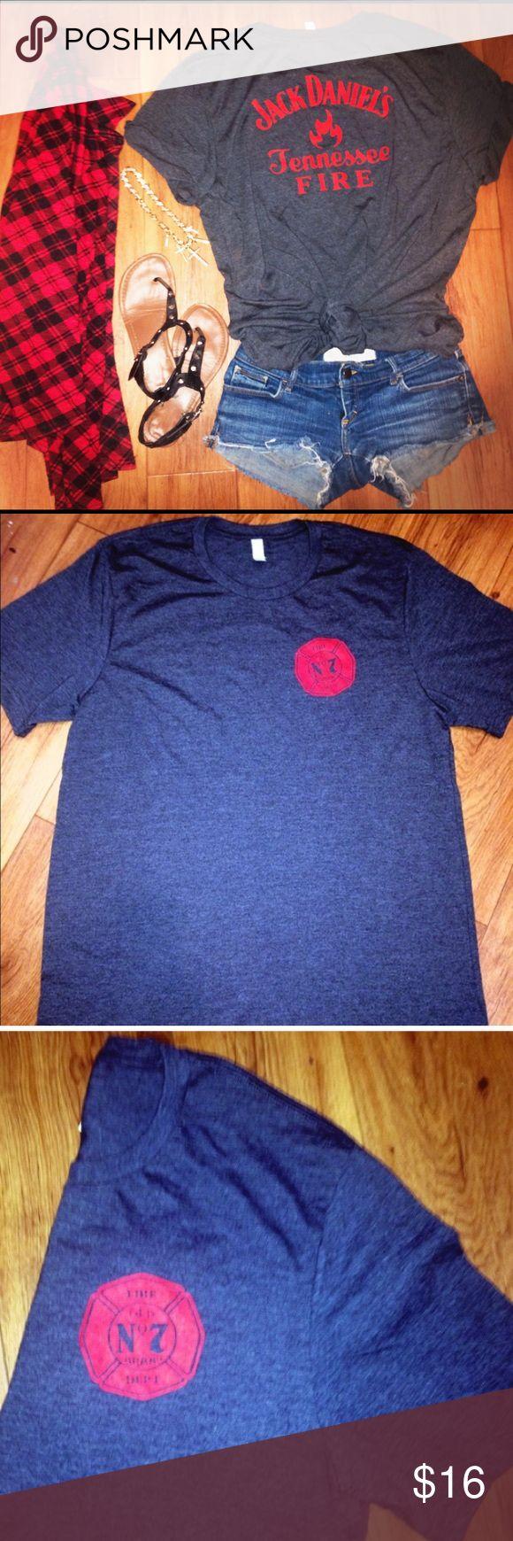 Design your own jack daniels t shirt - Jack Daniels Fire Whiskey Hipster Tshirt Jack Daniels Whisky Fire Tshirt Mens X Large