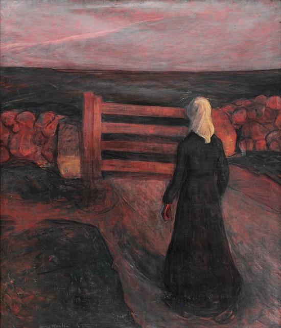 Arne Kavli (1878 – 1970): Kvinne ved grind