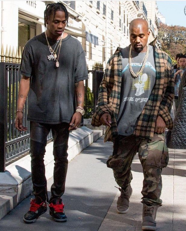 Travis Scott X Kanye West Kanye Kanye West Style Outfits Kanye West Style Kanye West Outfits