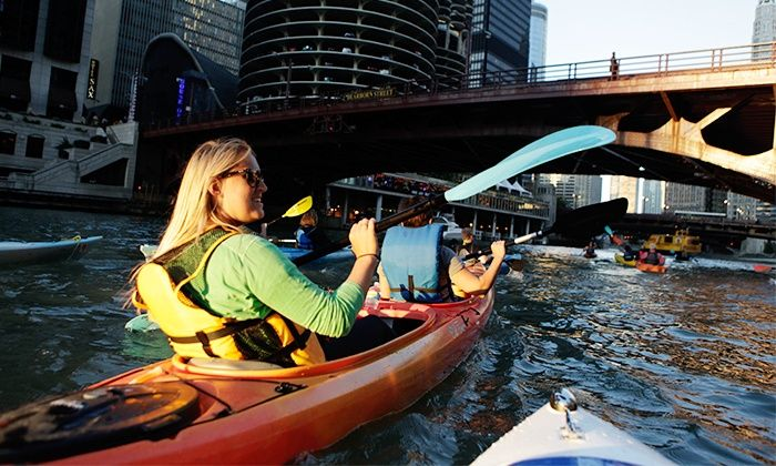 Wateriders Kayak Tours - Riverwalk: Architecture and History Kayak Tour or Shady Chicago Kayak Tour for Two or Four from Wateriders (Up to 52% Off)