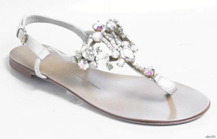 Pretty silver flat comfortable sandals zanotti for Comfortable wedding dress shoes