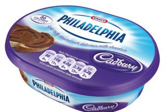 Cadbury Philadelphia chocolate cream cheese spread. Here's hoping they'll launch it in the U.S.