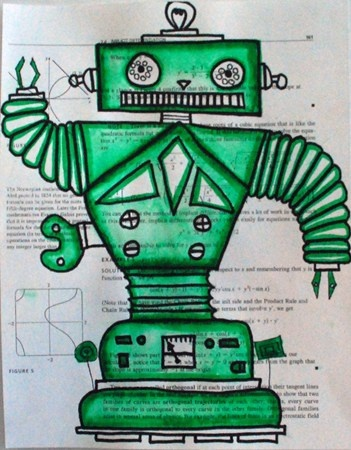 Robot Drawings (would be good to combine with a shapes lesson)