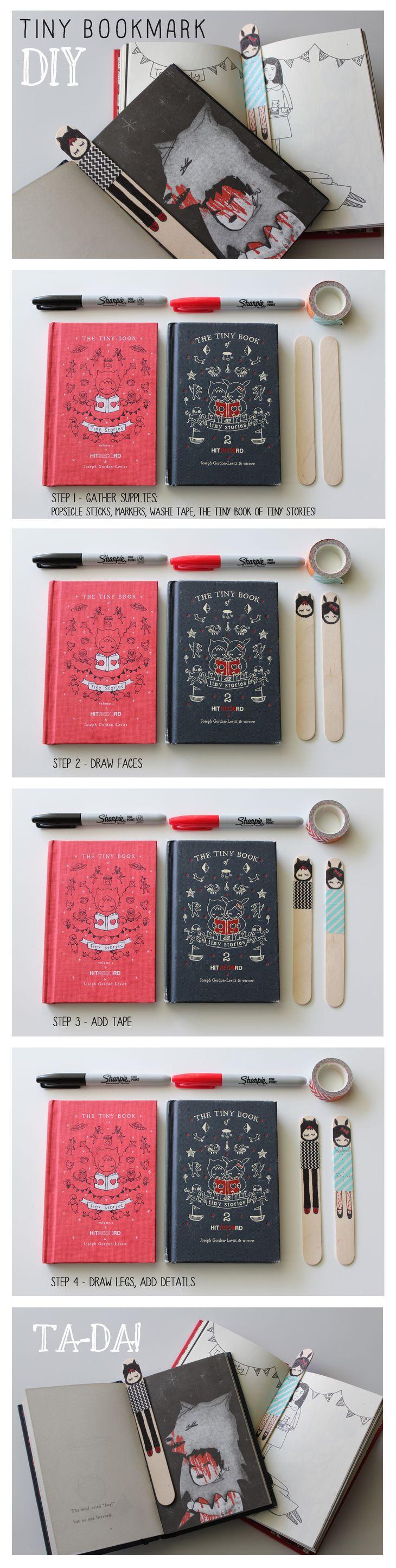 Best HITRECORD Tiny Bookmark DIY