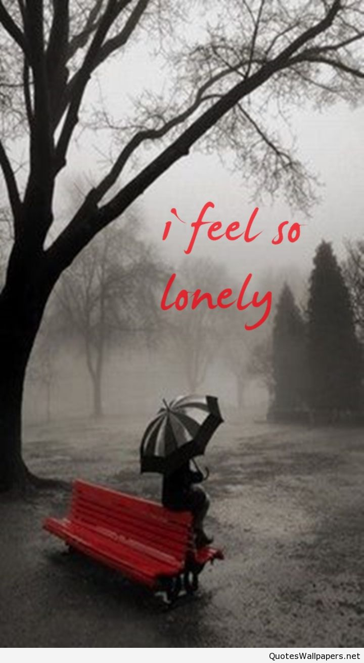 I feel so lonely quote image Rainy days, Photo, Pictures
