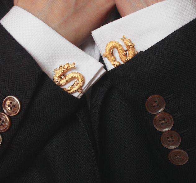 #dragon #cufflinks #gold