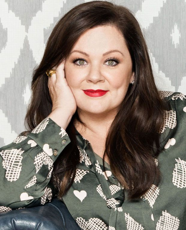 Melissa McCarthy Seven7: printed heart bow blouse (not available in Canada)