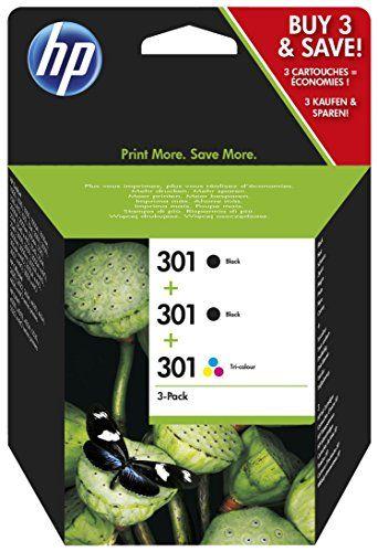 awesome HP E5Y87EE - Cartucho de tinta numéro 301 para impresora HP Deskjet (3 Cartuchos -  2 de tinta negro y uno tricolor)