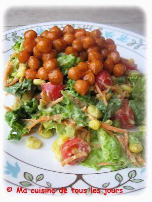 Ma cuisine de tous les jours: Salade hachée de pois chiches barbecue, vinaigrette ranch à l'avocat