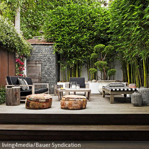 203 best Garten \ Terrasse images on Pinterest Backyard patio - moderne garten mit bambus