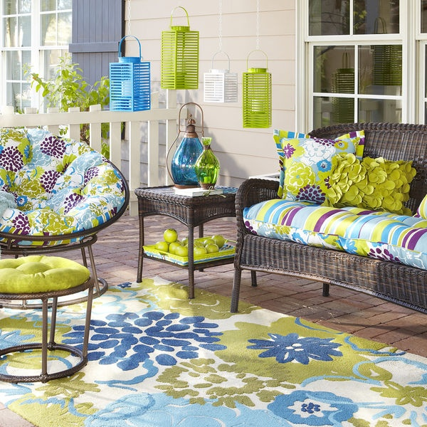 Beautiful Patio Furniture Purple Green And Blue Are My