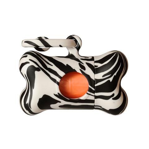 BonTon Nano Fantasy Zebra Poo Bag Holder #dogstuff #dog #dogaccessories #dogcare #dogproducts #bonton #zebra #zebrapattern #cooldog #funkydog